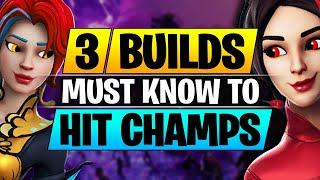 Top 3 BUILDS to Hit Champions League FAST - BEST Editing and Building Tips - Fortnite Pro Guide
