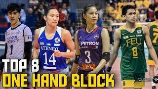 TOP 8 LEGENDARY One Hand Block   PH Volleyball
