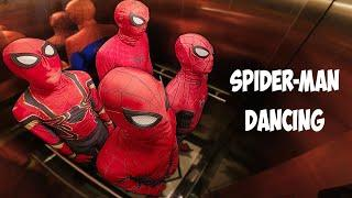 ALL SPIDER-MAN Dancing In The Elevator | Team Spider-Man Song
