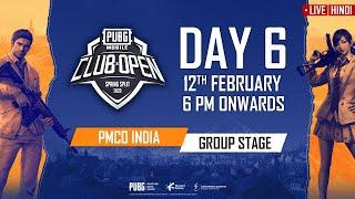 [Hindi] PMCO India Group Stage Day 6 | Spring Split | PUBG MOBILE CLUB OPEN 2020