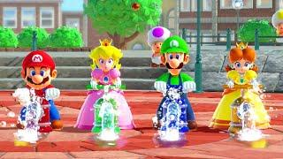 Super Mario Party Best Minigames - Mario vs Luigi vs Peach vs Daisy (Very Hard CPU)