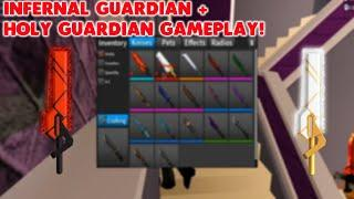 INFERNAL GUARDIAN + HOLY GUARDIAN GAMEPLAY! (ROBLOX ASSASSIN) *NEW TOP 10 & 100 PRIZE*
