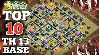 *New* Top 10 TH13 War Base Link 2020 | Base Link Given In Video Description (Town Hall 13)