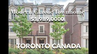 Modern Classic Townhouse For Sale. Top Toronto Real Estate Agent Karen Law