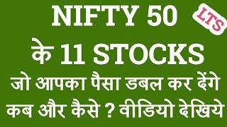 NIFTY 50 Top 11 Shares | Investing | Stock market | Indian Stock Broker Zerodha |Top11 stocks