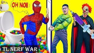 Superhero War Fun in Real Life pregnant spiderman | Teacher Joker Pranks Superheroe Student