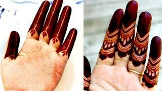2 Easy Bharva mehndi for hand | Latest mehndi design | Shaded mehndi design