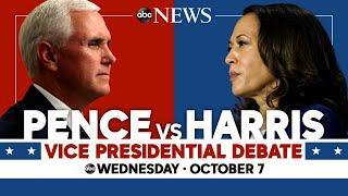 2020 Vice Presidential Debate: WATCH LIVE VP Mike Pence, Kamala Harris go head-to-head | ABC News