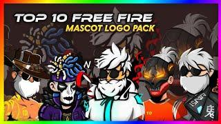 TOP 10 FREE FIRE mascot logo pack without text by AMRIT GRAPHICS