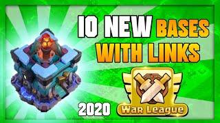 10 NEW TOWNHALL 13 CLAN WAR BASES WITH LINKS || 2020 || CLASH OF CLANS