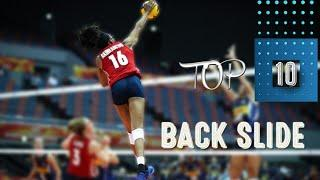 Top 10 Back Slide in Women's Volleyball by Mel (PART I)