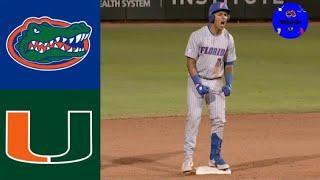 #10 Florida vs #7 Miami | 2020 College Baseball Highlights