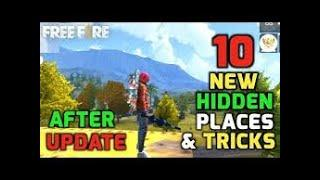 top 10 hidden & secret place for rank pushing-free fire