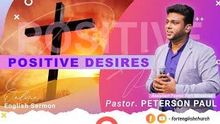 Positive Desires | Sunday Fourth Service (English) | 01 November 2020