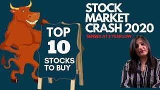 Top 10 Stocks to Buy in  Stock Market Crash 2020 | Latest stock market news in Hindi