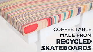 Coffee Table Made From RECYCLED SKATEBOARDS