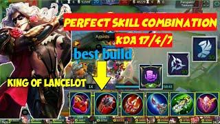 Fast hand and skill lancelot  game play [top 1 global] mobile legend