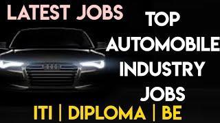 2020 TOP AUTOMOBILE INDUSTRY JOBS TAMIL NADU