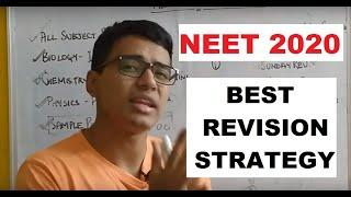 BEST REVISION STRATEGY FOR NEET 2020- REVISE ENTIRE SYLLABUS OF NEET 2020