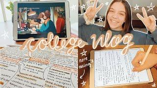 College Vlog: Exam Prep, Lots of Studying, iPad Note Taking *Study Vlog*