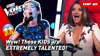 MULTITALENTED KIDS with PHENOMENAL Blind Auditions on The Voice Kids!