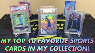 MY TOP 10 FAVORITE SPORTS CARDS IN MY COLLECTION! BIG CARDS OF LUKA, ZION, JA, & MORE!