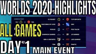 Worlds 2020 Day 1 Highlights ALL GAMES Group Stage Main Event - Lol World Championship 2020