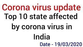 Corona virus update | Top 10 affected state in India by corona virus
