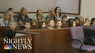 Foster Child's Kindergarten Class Shows Up To Support Him At Adoption Hearing | NBC Nightly News