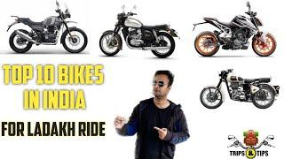 Top 10 bikes in india for ladakh ride||best performance||best riding experience