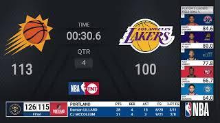 Suns @ Lakers | NBA Playoffs on TNT Live Scoreboard