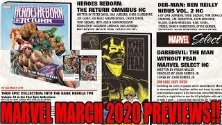 Advance look at the Collected  Editions in the March Marvel Previews 2020!