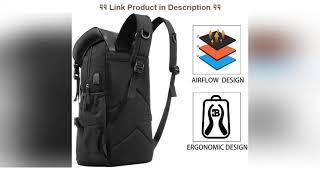 Top 10 Travel Laptop Backpack, with USB Port for School Women Men Bag Fits 15.6 Inch Black
