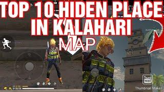 FREE FIRE NEW TOP 10 HIDEN PLACE IN KALAHARI MAP.