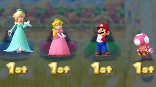 Mario Party 10 - Rosalina vs Peach vs Mario vs Toadette - Coin Challenge