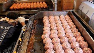 줄서서 먹는 대왕떡갈비 / popular spicy hamburger steak / korean street food