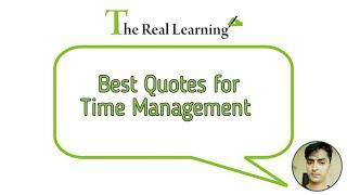 Top 10 Time Management Quotes|| Time Management  Motivation || How to manage time