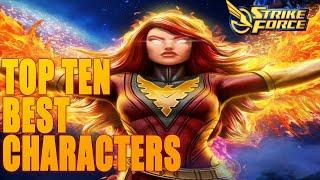 Top 10 Best Characters + Infographic  Marvel Strike Force - MSF
