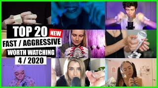 ASMR / FAST / AGGRESSIVE (Hand Sounds, Mouth Sounds, Tapping) / TOP 20 / 4/2020 / ASMR Charts
