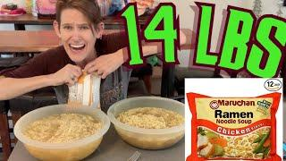 14 LB RAMEN BOWL WITH GIRLS VS FOOD EPISODE 7 | ALL YOU CAN EAT RAMEN | 10 PACKS | Homemade pho 135