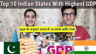 Top 10 Indian States By Highest GDP |Pakistani Reaction|