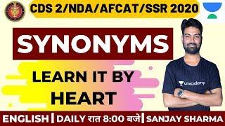 Synonyms Learn It By Heart | Best Tricks to Learn English | English | Target Defence | Sanjay Sharma