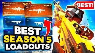 *NEW* Warzone Season 5 Top 10 BEST LOADOUT + Class Setups (Modern Warfare Warzone Tips)