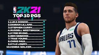 NBA 2K21 *Official* Top 10 Point Guards!