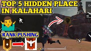TOP 5 HIDDEN AND SECRET PLACE IN KALAHARI MAP || GARENA FREE FIRE [HINDI]