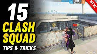 TOP 15 CLASH SQUAD TIPS AND TRICKS IN FREE FIRE | BEST HIDDEN PLACES TO WIN EVERY CLASH SQUAD MATCH
