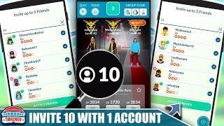 HOW TO *INVITE 10 PLAYERS* WITH 1 ACCOUNT TO A REMOTE RAID! REMOTE RAID INVITES | Pokémon GO