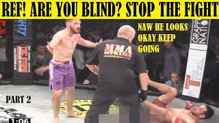 Top 10 Times Fighters Had to Tell The Ref to Stop The Fight & They Refused to Hit Their Opponent