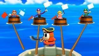 Mario Party: The Top 100 MiniGames - Luigi vs Mario Vs Peach Vs Waluigi (Master Cpu)