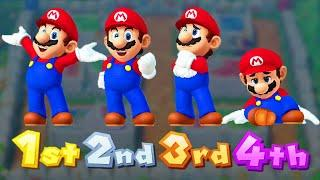 Mario Party 10 Minigames - Mario vs Luigi vs Peach vs Daisy (master difficulty)